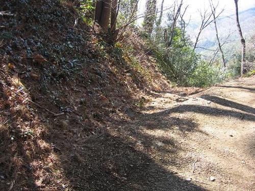 桐生城三の丸と二の丸の間の掘切