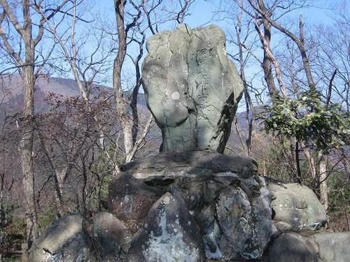 桐生城本丸にたつ碑