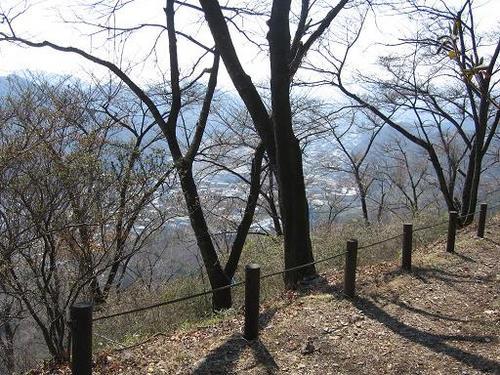 桐生城本丸から見た梅田、久方あたりの町
