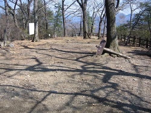 桐生城本丸北側