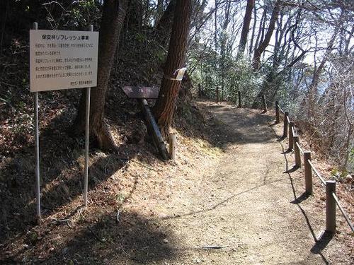 桐生城二の丸の堀切