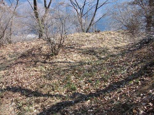 桐生城本丸下の腰郭