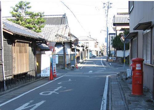緒川城下の町並み