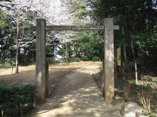 小金大谷口城址の虎口門