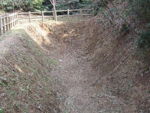 小金大谷口城址に残る障子堀